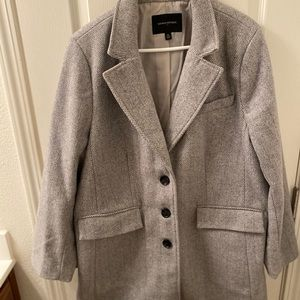 Banana Republic Top Coat in gray herringbone
